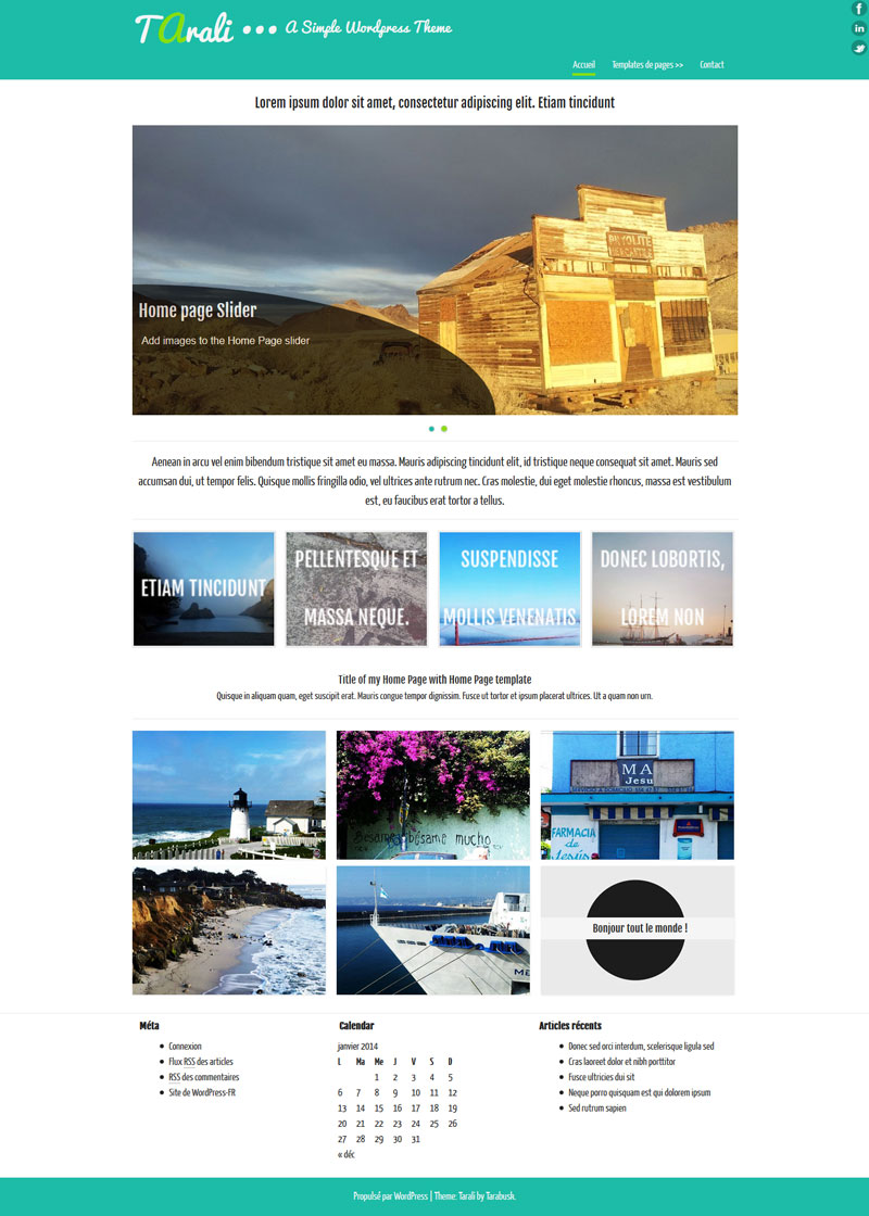theme WordPress 2014Gratuit Free